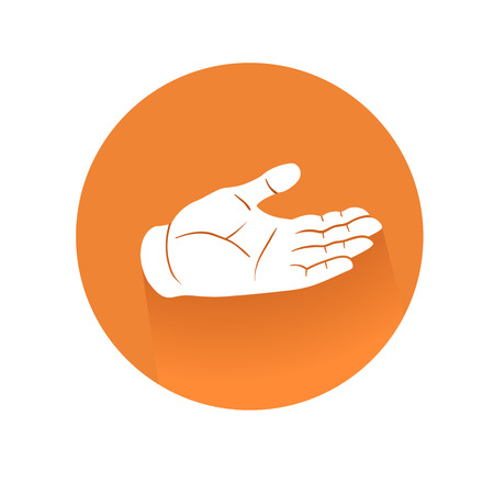 recieving: This is an illustration of recieving hand symbol