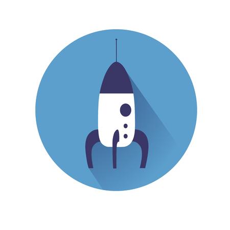 symol: This is an illustration of rocket symol Illustration