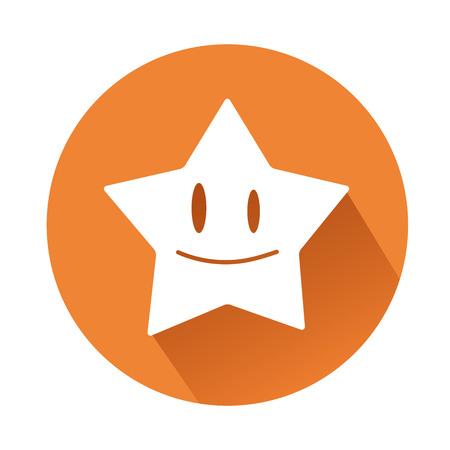 これは笑みを浮かべて星のイラスト