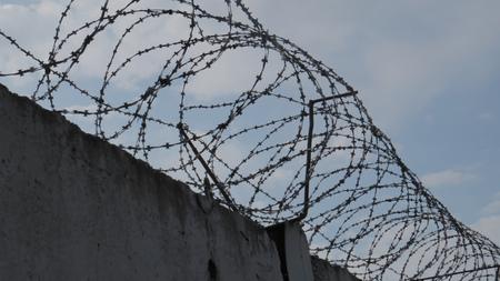 刑務所の壁の背景 写真素材