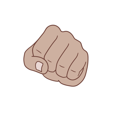 This is a fist in front view.
