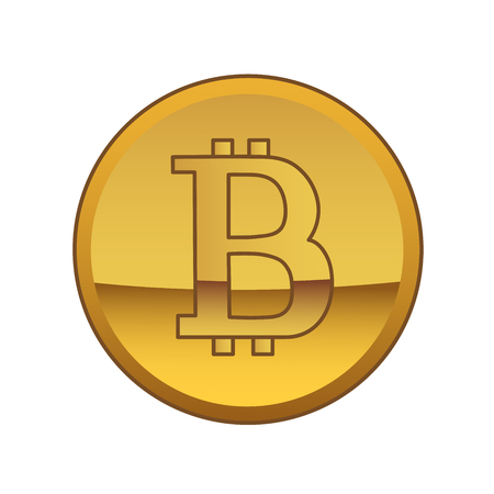 This is a bitcoin golden currency symbol. Stock Illustratie