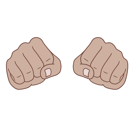 This is two fists in front view. Illustration