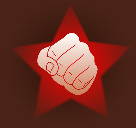 Revolution fist illustration.