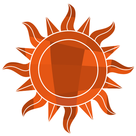 This is an illustration of Mosaic sun symbol