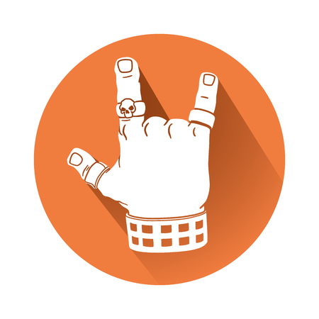 This is an illustration of a Hand in Rock gesture Stock Illustratie
