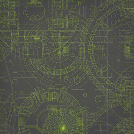 cad drawing: Blueprint. Vector drawing background. Illustration