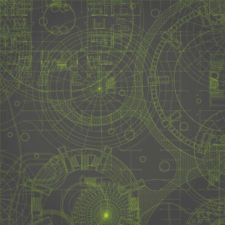 Blueprint. Vector drawing background. Illustration
