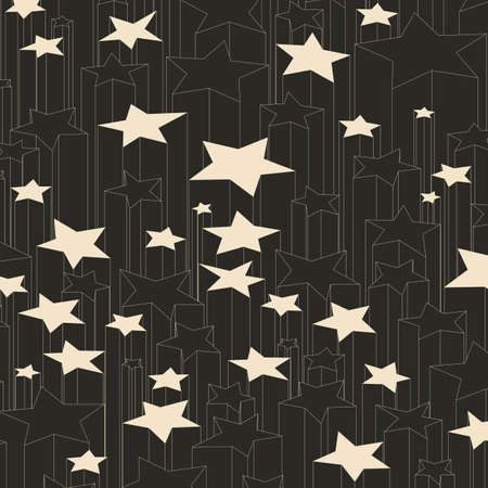 multiplicity: Black and white lucky stars. Vector background.