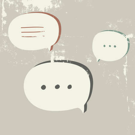 socialize: Speech Bubble. Vector talk cloud.
