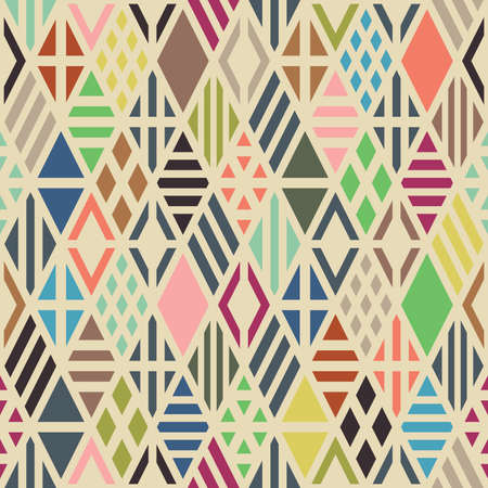 Rhombuses seamless pattern. Geometric background. Vector