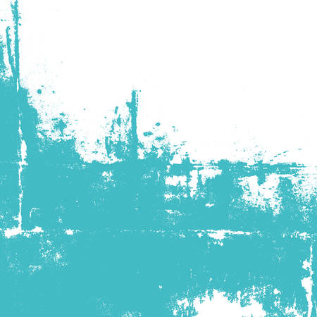 Abstract wall painted in turquoise color. Splashes on white. Vector illustration background. Ilustração