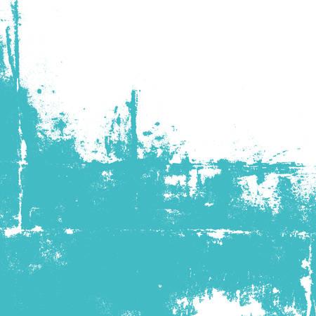 papel tapiz turquesa: Resumen de la pared pintada de color turquesa. Salpicaduras en blanco. Ilustración vectorial de fondo. Vectores