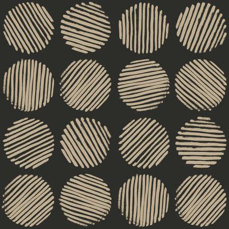 weave ball: Circle seamless pattern. Brush Strokes Illustration