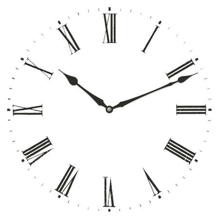 clock icon: Clock illustration. Isolated on white background. Illustration