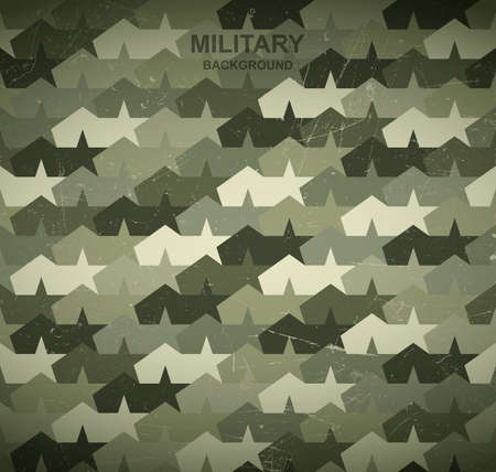 hideout: Military background. Camouflage stars and tents. Illustration