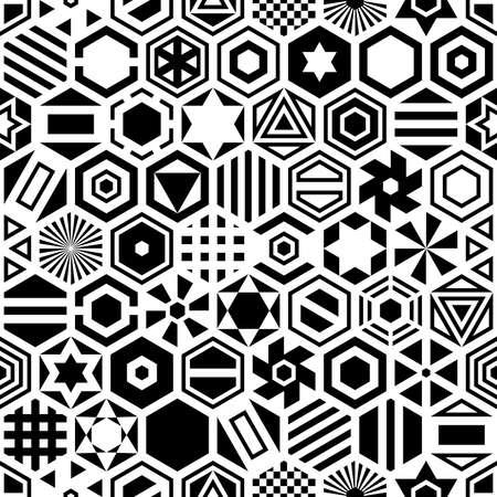 reiteration: Hexagon seamless pattern. Geometric background. Illustration