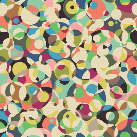 Circle seamless pattern. Abstract background Vector
