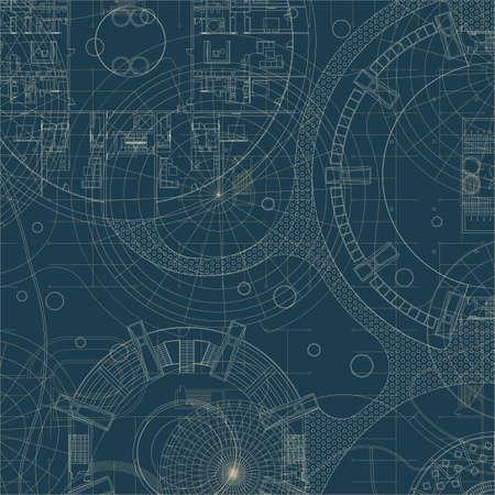 arquitectura: Fondo arquitectónico. Plan de construcción del vector.