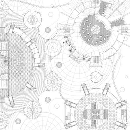 Blueprint. Architecturale achtergrond.