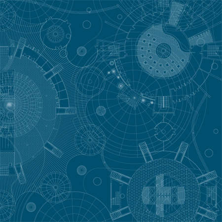 Architectural background. Vector blueprint. Vettoriali