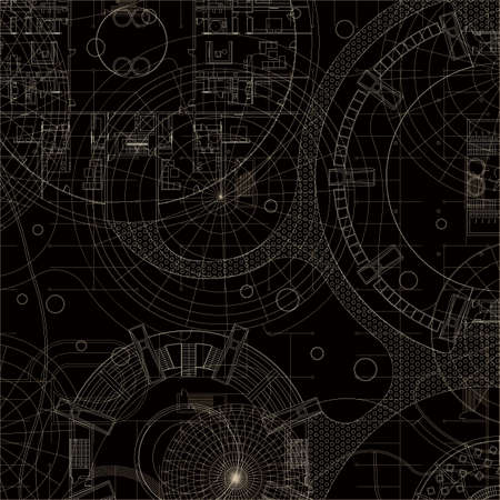 Blueprint. Architectural background.