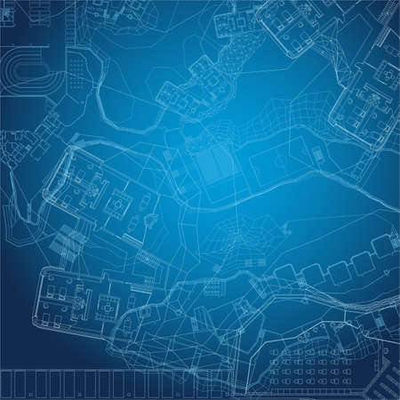 abstract vector background: Blueprint. Architectural background.