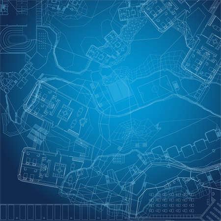 abstract: Blueprint. Építészeti háttérben.