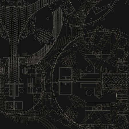 Architectural background. Vector blueprint. 矢量图像