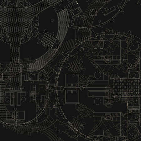cad drawing: Architectural background. Vector blueprint. Illustration