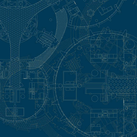 Blueprint on white background vector architectural plan of modern architectural blueprint vector drawings vector malvernweather Gallery