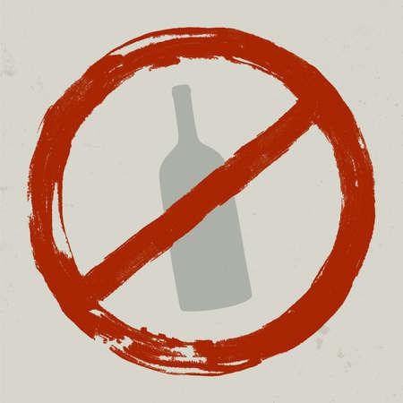 disallowed: Forbidden sign. Illustration