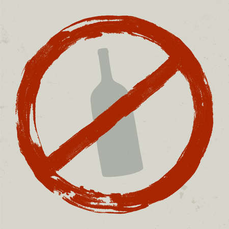 Forbidden sign. Illustration