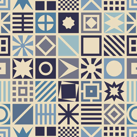reiteration: Square seamless pattern. Geometric background.