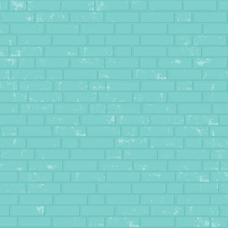 clinker tile: Pared de ladrillo pintada. Vector de fondo