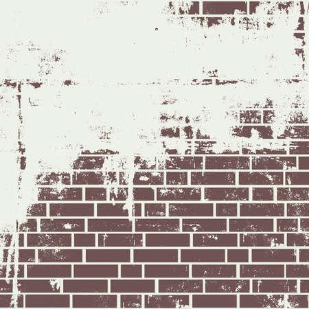 Plastered brick wall. Vector background Stock Illustratie