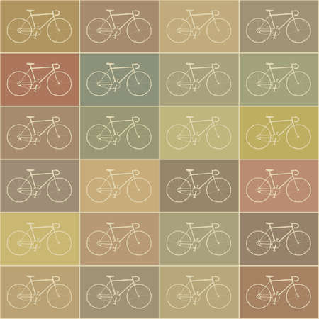 Vintage bikes set. Vector background with bicycles Vector