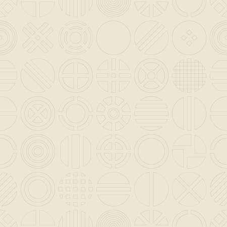 contour: Circle contour seamless pattern. Geometric background.