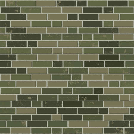 brick earth: Camouflage brick wall. Military concept background. Illustration