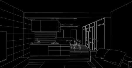 interior drawing: interior drawing
