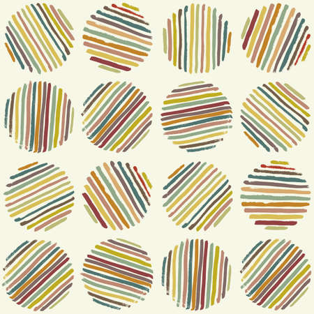yarn: Circle seamless pattern. Brush Strokes Illustration