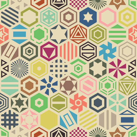 repetition: Hexagon seamless pattern.