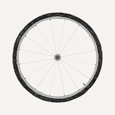 spoke: bicycle wheel
