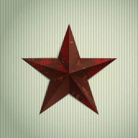 estrellas  de militares: Estrella de metal militar Grunge.