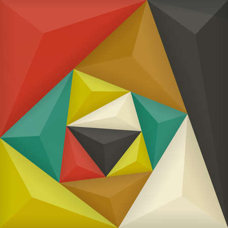 voluminous: Voluminous colored triangles. Vector background