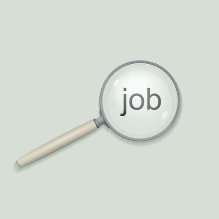 enlargement: Magnifying glass. Job search