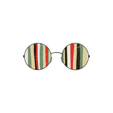 round: Round glasses Illustration