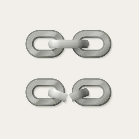 metal chain: Link set. Metal chain