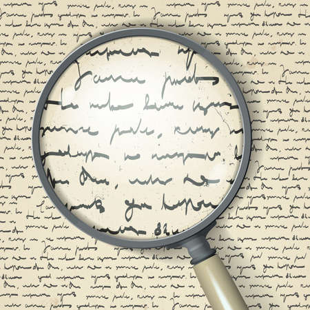 essay: Scribbles and magnifier Illustration