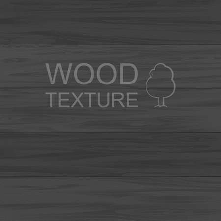 painted wood: Wood texture template. Painted planks in black Illustration